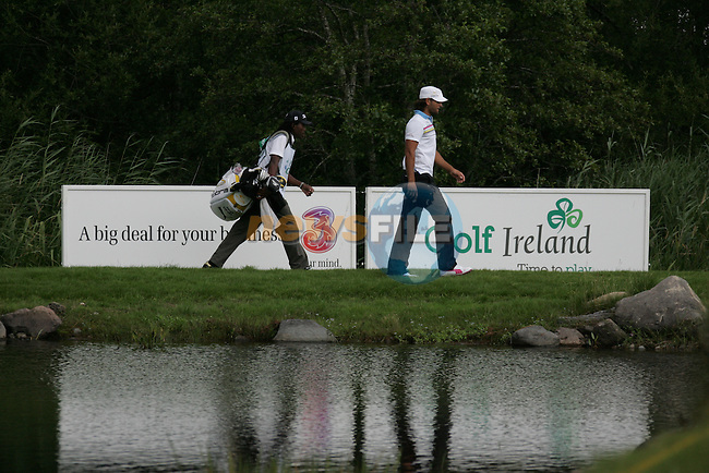 Johan Edfors heads to drop a ball after he put his tee shot in the water on the 10th on day three of the 3 Irish Open, at the Killarney Golf and Fishing Club, Killarney, Ireland.Picture Fran Caffrey/www.golffile.ie.