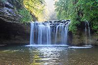 France, Jura (39), Menétrux-en-Joux, cascades du Hérisson, le Gour Bleu // France, Jura, Menetrux en Joux, Herisson waterfalls, Gour Bleu fall