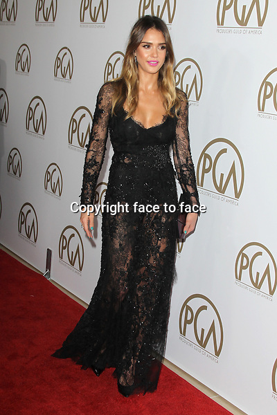 BEVERLY HILLS, CA - JANUARY 26: Jessica Alba (wearing Elie Saab Couture fall 2012 sheer lace black gown with a dense flower applique all over the bodice) at the 24th Annual Producers Guild of America Awards at The Beverly Hilton Hotel in Beverly Hills, California...Credit: MediaPunch/face to face..- Germany, Austria, Switzerland, Eastern Europe, Australia, UK, USA, Taiwan, Singapore, China, Malaysia and Thailand rights only -BEVERLY HILLS, CA - JANUARY 26: Jessica Alba at the 24th Annual Producers Guild of America Awards at The Beverly Hilton Hotel in Beverly Hills, California...Credit: MediaPunch/face to face..- Germany, Austria, Switzerland, Eastern Europe, Australia, UK, USA, Taiwan, Singapore, China, Malaysia and Thailand rights only -