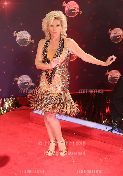 Fiona Fullerton arriving for Strictly Come Dancing red carpet launch event held at Elstree studios, London. 03/09/2013 Picture by: Henry Harris / Featureflash