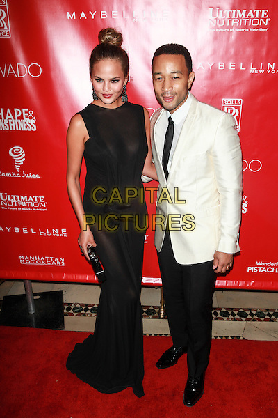 New York, NY- January 31: Chrissy Teigen, John Legend at Shape &amp; Men's Fitness Kickoff Party at Cipriani 42nd Street on January 31, 2014 in New York City.  <br /> CAP/MPI/COR<br /> &copy;Corredor99/ MediaPunch/Capital Pictures