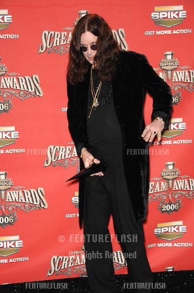 OZZY OZBOURNE - presented with Scream Rock Immortal Award - at the Spike TV Scream Awards 2006 at the Pantages Theatre, Hollywood..October 7, 2006  Los Angeles, CA.Picture: Paul Smith / Featureflash