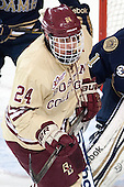 Bill Arnold (BC - 24) - The Boston College Eagles defeated the visiting University of Notre Dame Fighting Irish 4-2 to tie their Hockey East quarterfinal matchup at one game each on Saturday, March 15, 2014, at Kelley Rink in Conte Forum in Chestnut Hill, Massachusetts.