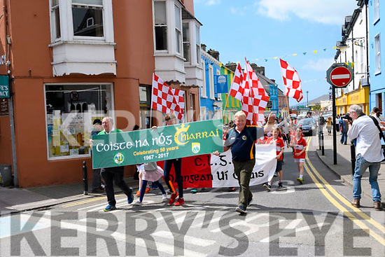 West Kerry Coiste na nÓg clubs celebrating 50 years of GAA along the streets of Dingle.