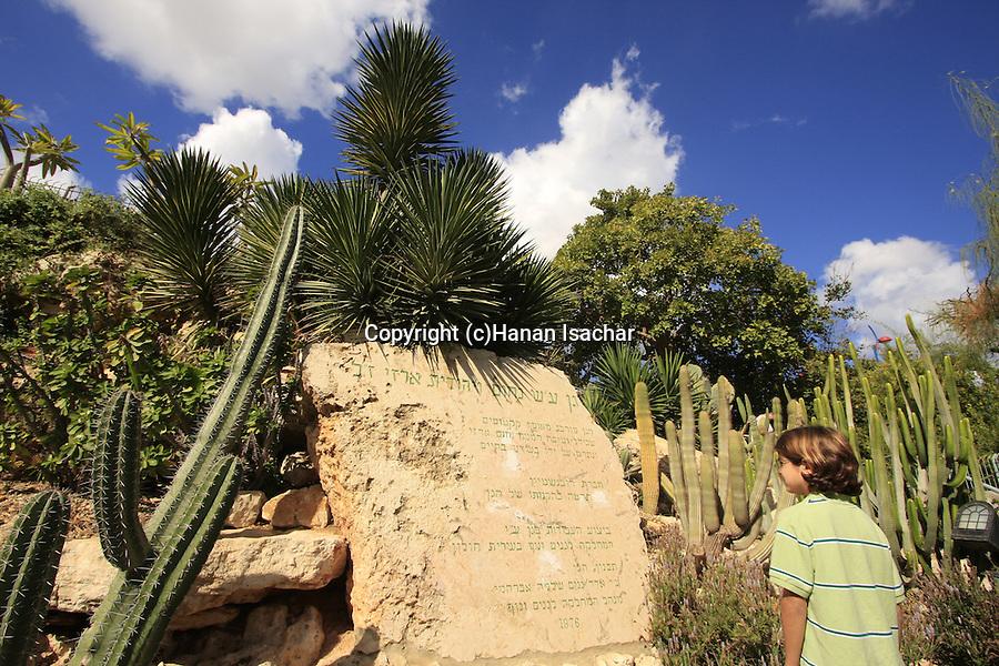 Israel, Southern Coastal Plain. The Cacti garden in Holon