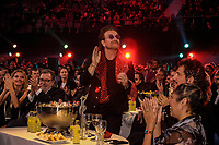 MADRID, SPAIN - NOVEMBER 10: Bono at the 40 Music Awards press room at WiZink Center on November 10, 2017 in Madrid, Spain.  ***NO SPAIN***<br /> CAP/MPI/RJO<br /> &copy;RJO/MPI/Capital Pictures