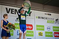 Piet Allegaert (BEL/Sport Vlaanderen Baloise) with the green jersey (primus combative)<br /> <br /> Binckbank Tour 2017 (UCI World Tour)<br /> Stage 1: Breda (NL) > Venray (NL) 169,8km