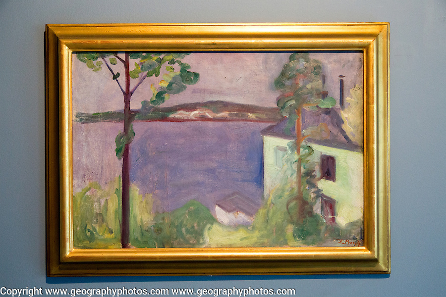 """""""From Nordstrand"""" 1891 by Edvard Munch, (1863-1944), oil on canvas, Kode 4 art gallery Bergen, Norway - copyright restrictions in USA and Spain"""
