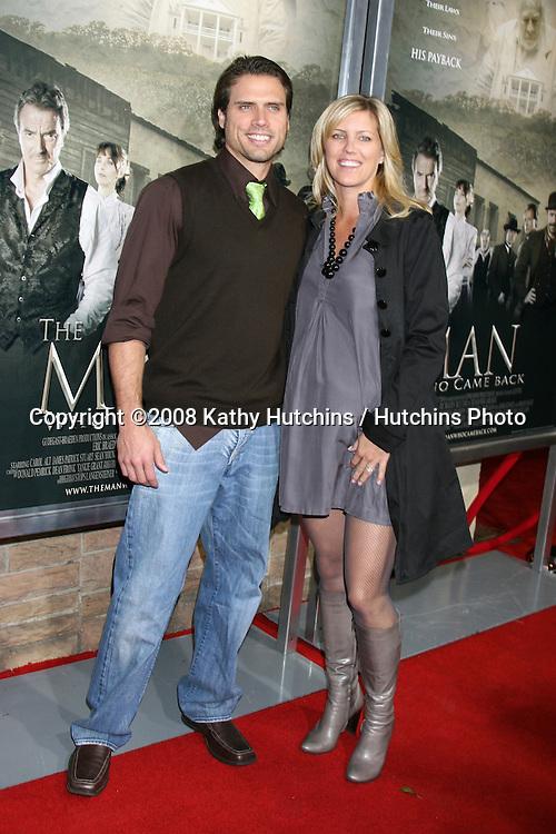 "Joshua Morrow & wife Tobe.""The Man Who Came Back"" Premiere.Aero Theater.Santa Monica, CA.February 8, 2008.©2008 Kathy Hutchins / Hutchins Photo...."