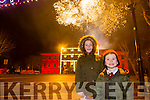 Enjoying the New Year's Eve fireworks Spectacular in Denny Street were Kira and Sean Drummey