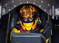 May 4, 2018; Commerce, GA, USA; NHRA funny car driver J.R. Todd during qualifying for the Southern Nationals at Atlanta Dragway. Mandatory Credit: Mark J. Rebilas-USA TODAY Sports