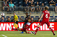 Chester, PA - Wednesday August 08, 2018: 2018 US Open Cup Semifinal match between the Philadelphia Union and the Chicago Fire at Talen Energy Stadium.