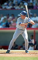 Los Angeles Dodgers Todd Benzinger (36) during spring training circa 1992 at Chain of Lakes Park in Winter Haven, Florida.  (MJA/Four Seam Images)