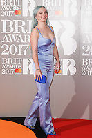 Clean Bandit - Grace Chatto at the 2017 Brit Awards at the O2 Arena in London, UK. <br /> 22 February  2017<br /> Picture: Steve Vas/Featureflash/SilverHub 0208 004 5359 sales@silverhubmedia.com