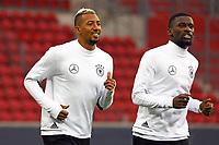 Jerome Boateng (Deutschland Germany), Antonio Rüdiger (Deutschland Germany) - 07.10.2017: Abschlusstraining Deutschland, OPEL Arena Mainz