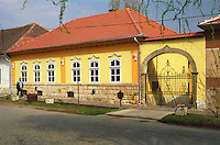 In the village Mad in Tokaj: A typical yellow house of the Hungarian region. Mad is one of the main villages in the Tokaj district.  Credit Per Karlsson BKWine.com