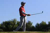Matthew Jordan (ENG) on the 14th tee during Round 3 of the Challenge Tour Grand Final 2019 at Club de Golf Alcanada, Port d'Alcúdia, Mallorca, Spain on Saturday 9th November 2019.<br /> Picture:  Thos Caffrey / Golffile<br /> <br /> All photo usage must carry mandatory copyright credit (© Golffile | Thos Caffrey)