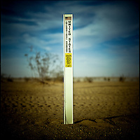 A marker in the Imperial Sand Dunes at the Mexico-California border marks the beginning of United States territory.