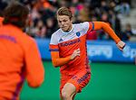 ROTTERDAM -  Jip Janssen (NED)  tijdens de warming up voor  de Pro League hockeywedstrijd heren, Nederland-Spanje (4-0) . COPYRIGHT KOEN SUYK