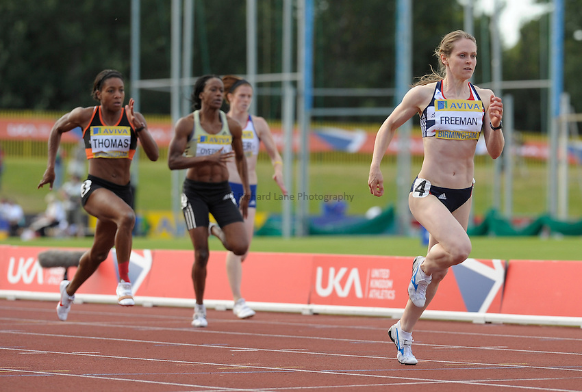 Photo: Ady Kerry/Richard Lane Photography..Aviva World Trials & UK Championships athletics. 12/07/2009. .Emily Freeman powers away from the field to win the 200m final.