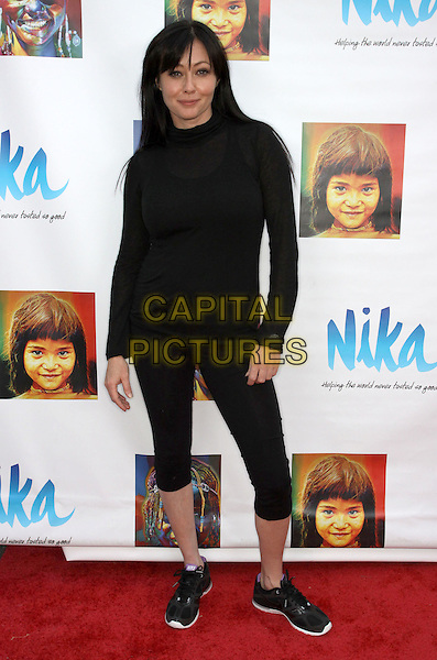 SHANNEN DOHERTY .Gifting Services Honoring Season 10 Opener of Dancing with the Stars held At The CBS Studio Lot, Los Angeles, California, USA, .21st March 2010..full length jumper sweater leggings trainers black polo high neck top fringe .CAP/ADM/KB.©Kevan Brooks/AdMedia/Capital Pictures.