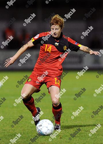 2011-10-26 / Voetbal / kwalificatie EURO 2013 Dames / België - Noorwegen / Lien Mermans..Foto: Mpics