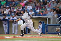 Mitch Morales (13) of the Tri-City Dust Devils at bat during a game against the Hillsboro Hops at Ron Tonkin Field in Hillsboro, Oregon on August 24, 2015.  Tri-City defeated Hillsboro 5-1. (Ronnie Allen/Four Seam Images)