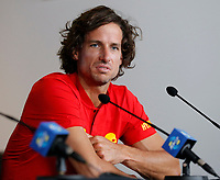 2nd January 2020; RAC Arena , Perth, Western Australia, Australia; ATP Cup Team Press conferences, Spain; Feliciano Lopez of Spain speaks to the press  during the team press conferences - Editorial Use