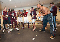 21 November 2010: The Colorado Rapids players prepare to celebrate in the locker room after winning the 2010 MLS CUP between the Colorado Rapids and FC Dallas at BMO Field in Toronto, Ontario Canada..The Colorado Rapids won 2-1 in extra time....