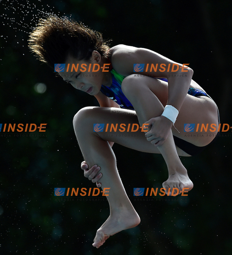 YU JIE Xia CHN <br /> Platform women Preliminary - Piattaforma Donne <br /> Bolzano 01-08-2014 <br /> 20 Fina Diving Grand Prix <br /> Photo Andrea Staccioli/Insidefoto