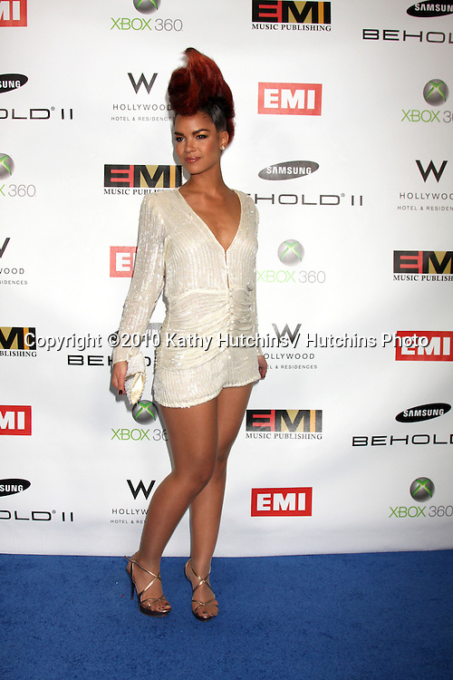 Ava Simmons.arriving at the EMI Post Grammy Party 2010.W Hotel Hollwood.Los Angeles, CA.January 31, 2010.©2010 Kathy Hutchins / Hutchins Photo....
