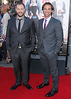 """WESTWOOD, LOS ANGELES, CA, USA - APRIL 28: Evan Goldberg, James Weaver at the Los Angeles Premiere Of Universal Pictures' """"Neighbors"""" held at the Regency Village Theatre on April 28, 2014 in Westwood, Los Angeles, California, United States. (Photo by Xavier Collin/Celebrity Monitor)"""
