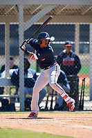 Atlanta Braves Nicholas Shumpert (2) during a Minor League Spring Training game against the Detroit Tigers on March 22, 2018 at the TigerTown Complex in Lakeland, Florida.  (Mike Janes/Four Seam Images)