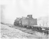 Rear left side view of K-37 #497 on freight.<br /> D&amp;RGW