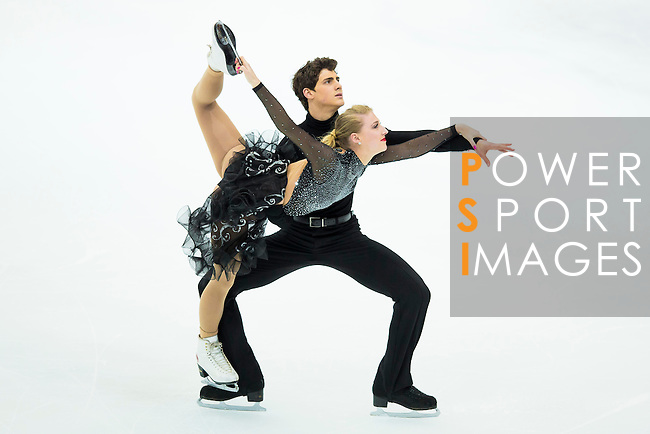 TAIPEI, TAIWAN - JANUARY 23:  Piper Gilles and Paul Poirier of Canada perform their routine at the Ice Dance Free Dance event at the Ice Dance Free Dance event during the Four Continents Figure Skating Championships on January 23, 2014 in Taipei, Taiwan.  Photo by Victor Fraile / Power Sport Images *** Local Caption *** Piper Gilles; Paul Poirier