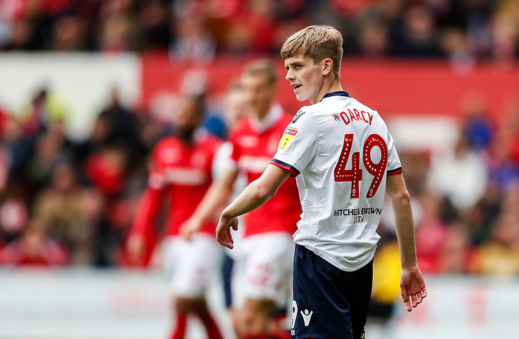 Bolton Wanderers' Ronan Darcy  <br /> <br /> Photographer Andrew Kearns/CameraSport<br /> <br /> The EFL Sky Bet Championship - Nottingham Forest v Bolton Wanderers - Sunday 5th May 2019 - The City Ground - Nottingham<br /> <br /> World Copyright © 2019 CameraSport. All rights reserved. 43 Linden Ave. Countesthorpe. Leicester. England. LE8 5PG - Tel: +44 (0) 116 277 4147 - admin@camerasport.com - www.camerasport.com