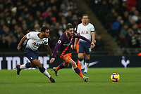 Bernardo Silva of Manchester City outruns his man during Tottenham Hotspur vs Manchester City, Premier League Football at Wembley Stadium on 29th October 2018
