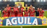 BOGOTA - COLOMBIA - 20 - 05 - 2017: Los jugadores de Patriotas F.C., posan para una foto, durante partido de la fecha 19 entre Millonarios y Patriotas F.C., por la Liga Aguila I-2017, jugado en el estadio Nemesio Camacho El Campin de la ciudad de Bogota. / The players of Patriotas F.C., pose for a photo, during a match of the date 19th between Millonarios and Patriotas F.C., for the Liga Aguila I-2017 played at the Nemesio Camacho El Campin Stadium in Bogota city, Photo: VizzorImage / Luis Ramirez / Staff.