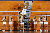 6 February 2010:  FIU's mascot, Roary, and cheerleaders attempt to fire up the crowd as the North Texas Mean Green defeated the FIU Golden Panthers, 68-66, at the U.S. Century Bank Arena in Miami, Florida.