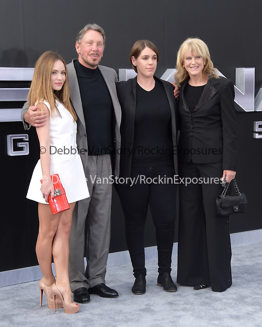 Larry Ellison and Megan Ellison attends The Paramount Pictures L.A. Premiere of Terminator Genisys held at The DolbyTheatre  in Hollywood, California on June 28,2015                                                                               © 2015 Hollywood Press Agency