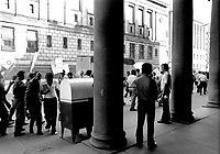 MONTREAL, CANADA - File Photo - CTCUM (Montreal Transit Commision) employees on strike in the street of Montreal, July 4, 1973.<br /> <br /> File Photo : Agence Quebec Presse - Alain Renaud
