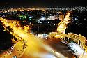 Iraq 2009.View on the old district of Suleimania by night  <br /> Irak 2009. Vue sur le vieux quarter de Souleimania , la nuit .