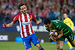 Saul Iniguez of Atletico de Madrid and Andres Fernandez of Villarreal during the match of La Liga between Atletico de Madrid and Villarreal at Vicente Calderon  Stadium  in Madrid, Spain. April 25, 2017. (ALTERPHOTOS/Rodrigo Jimenez)