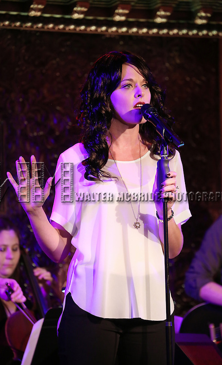 Ashley Spencer performs in Jeremy Jordan's 'Breaking Character' at 54 Below on November 12, 2014 in New York City.