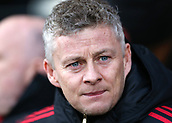 9th February 2019, Craven Cottage, London, England; EPL Premier League football, Fulham versus Manchester United; Manchester United Manager Ole Gunnar Solskjaer looks on from the dugout