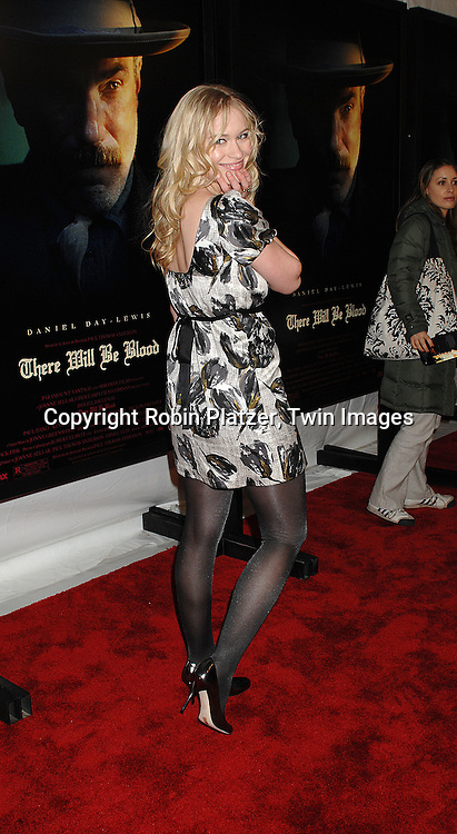 "Leven Rambin.arriving at the New York Premiere of ""There Will Be Blood"".on December 10, 2007 at The Ziegfeld Theatre in New York. Paul Thomas Anderson directed the movie which .stars Daniel Day-Lewis. .Robin Platzer, Twin Images"