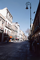 A street in the restored center of Mexico City 3-10-04