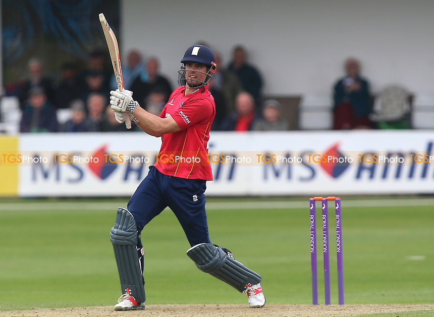 Alastair Cook hits four runs for Essex during Essex Eagles vs Gloucestershire, Royal London One-Day Cup Cricket at The Cloudfm County Ground on 4th May 2017