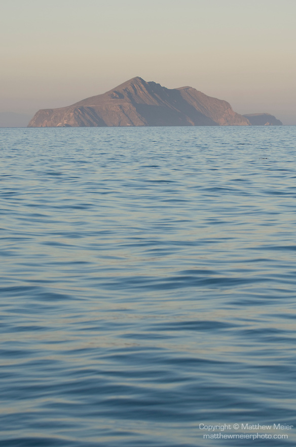 Santa Cruz Island, Channel Islands, California; view of Anacapa Island at sunset , Copyright © Matthew Meier, matthewmeierphoto.com All Rights Reserved