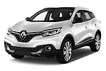 2015 Renault Kadjar Bose Edition 5 Door Suv 2WD Angular Front stock photos of front three quarter view